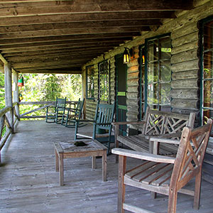 Porch at Crow's Nest Cottage