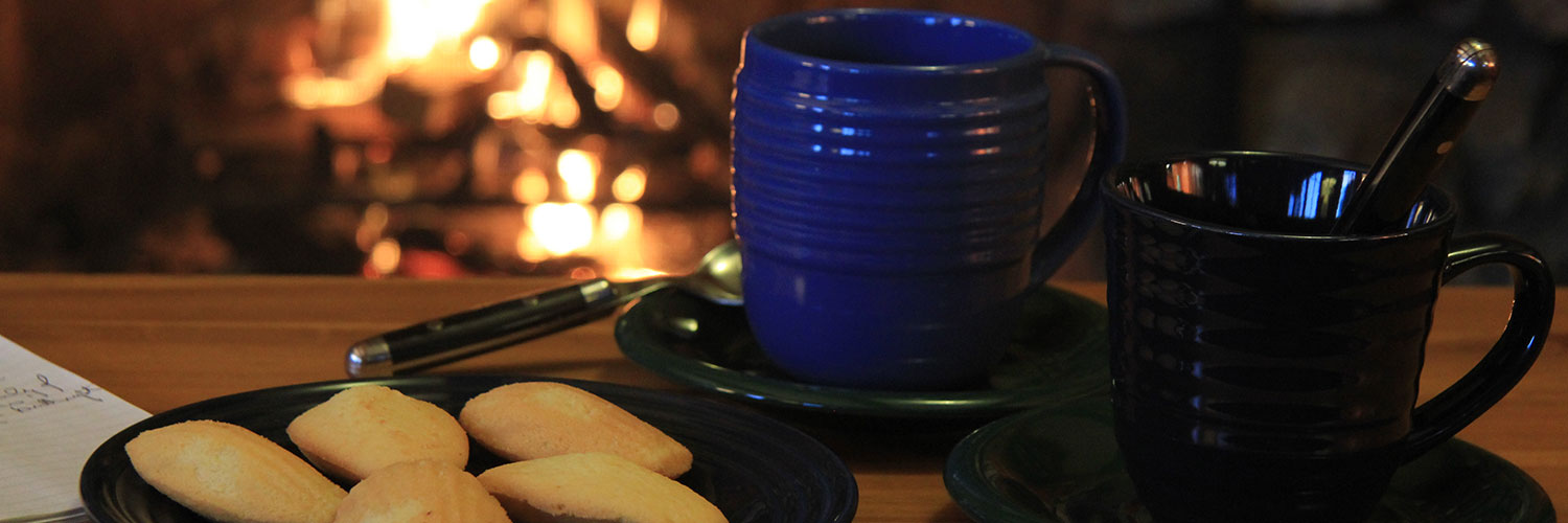 Cookies, tea and a fire
